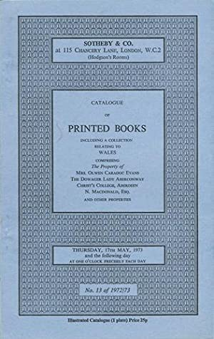 Catalogue of printed books comprising books relating: Sotheby's