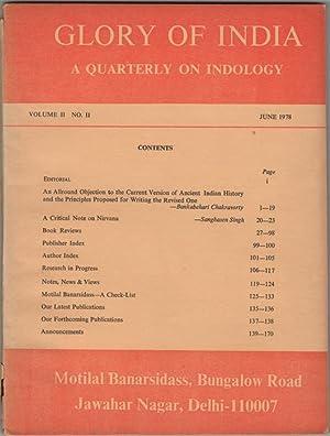 Glory of India. A Quarterly of Indology.: Jain, N.P, ed