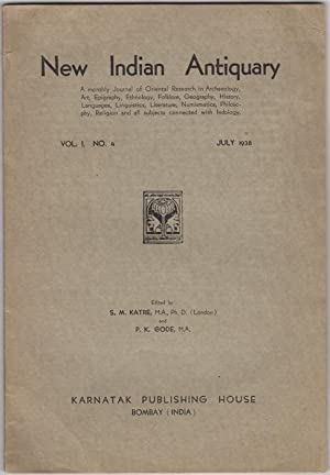 New Indian Antiquary. Vol. I, No. 4.: Katre, S.M. and