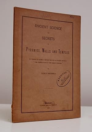 Ancient science, or, Secrets of pyramids, walls: SECRET DES PYRAMIDES).