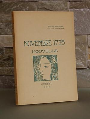 Novembre 1775. Nouvelle.: MORISSET, Gérard.