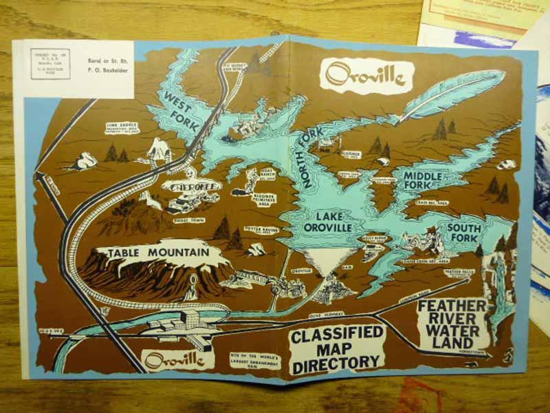 4 item Lake Oroville California Construction