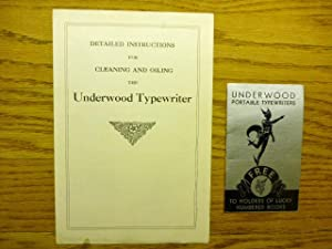 2 items - Underwood Portable Typewriters. Free to Holders of Lucky Numbered Books - and a 6.0 x 8...