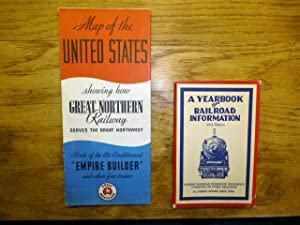 Two item listing - Map of the United States Showing How Great Northern Railway Serves the Great N...