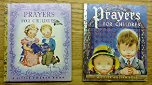 Two Little Golden Books - Prayers for Children - different illustrators - different editions