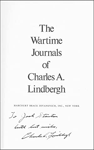 The Wartime Journals of Charles A. Lindbergh: Lindbergh, Charles