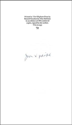 Six Poems: Updike, John
