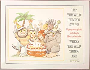 Where the Wild Things Are -- Happy 25th Birthday! (Signed Framed Poster)