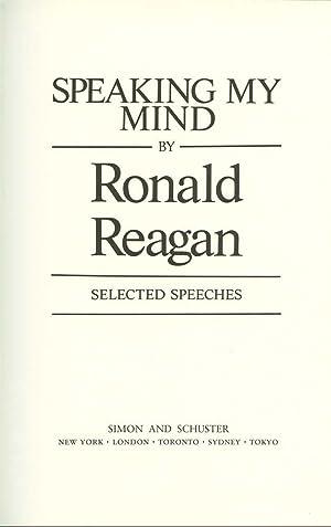 Speaking My Mind: Reagan, Ronald