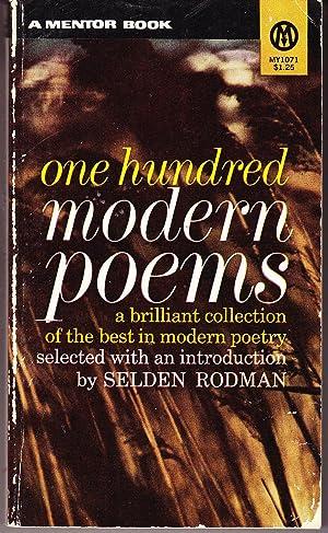One Hundred Modern Poems: Rodman, Selden (editor)