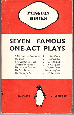 Seven Famous One Act Plays: Anonymous Editor
