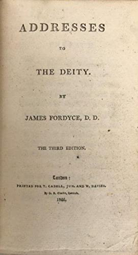 Addresses to the Deity. The third edition.: Fore-edge Painting] FORDYCE, James (1720-1796).