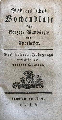 Medicinisches Wochenblatt fur Aerzte, Wundarzte und Apotheker. Hers. . . . Dritter Jahrgang vom ...