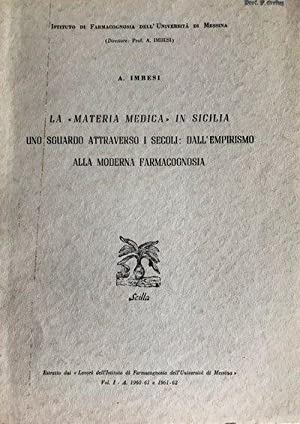"2 offprints. ""Le piante medicinali nei dipinti: IMBESI, Antonio."