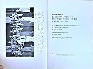History of the International Congresses of Physiological: American Physiological Society]