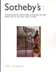 Renaissance Furniture & Works of Art from: Sotheby s: