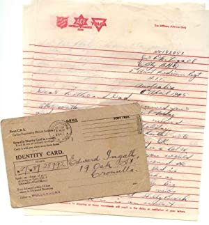 Two Autographed Letters and Identity Card for Lance Corporal Walter Edwin Ingall, who served in t...