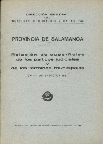 Provincia De Salamanca Relacion De