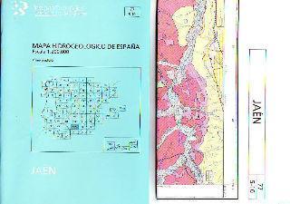 MAPA HIDROGEOLOGICO DE ESPAÑA. ESCALA 1:200.000. JAEN.