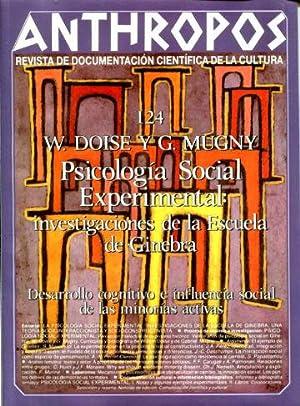 W. DOISE Y G. MUGNY, PSICOLOGIA SOCIAL EXPERIMENTAL: INVESTIGACIONES DE LA ESCUELA DE GINEBRA.: ...