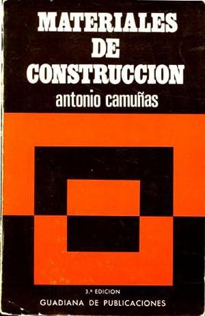 MATERIALES DE CONSTRUCCION.: CAMUÑAS, Antonio.