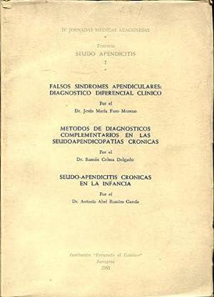 FALSOS SINDROMES APENDICULARES: DIAGNOSTICO DIFERENCIAL CLINICO. METODOS DE DIAGNOSTICOS ...