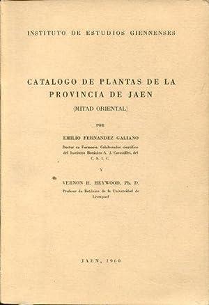CATALOGO DE PLANTAS DE LA PROVINCIA DE JAEN (MITAD ORIENTAL).: FERNANDEZ GALIANO, Emilio.