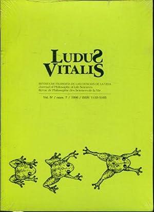 LUDUS VITALIS. REVISTA DE FILOSOFIA DE LAS