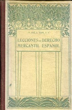 LECCIONES DE DERECHO MERCANTIL.: VILAR, Jose G.
