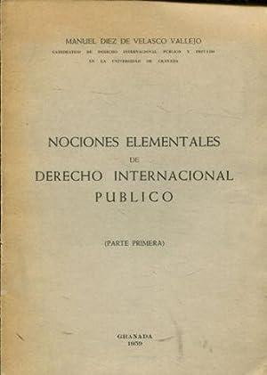 NOCIONES ELEMENTALES DE DERECHO INTERNACIONAL PUBLICO. PARTE: DIEZ DE VELASCO