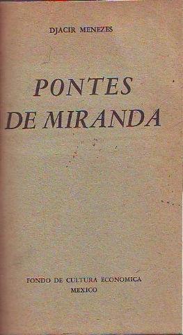 PONTES DE MIRANDA.: MENEZES, Djacir.