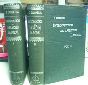 INTRODUCCION AL DERECHO LABORAL.: CABANELLAS, Guillermo.