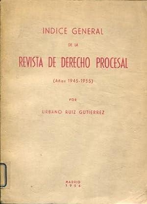 INDICE GENERAL DE LA REVISTA DE DERECHO: RUIZ GUTIERREZ, Urbano.