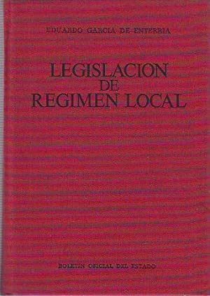 LEGISLACION DE REGIMEN LOCAL.