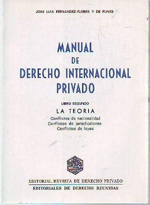 MANUAL DE DERECHO INTERNACIONAL PRIVADO. LIBRO SEGUNDO: FERNANDEZ-FLOREZ, Jose Luis.
