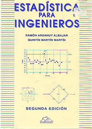 ESTADISTICA PARA INGENIEROS.: ARDANUY ALBAJAR/MARTIN MARTIN, Ramon/Quintin.