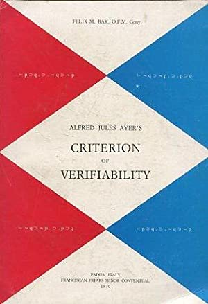 ALFRED JULES AYER'S. CRITERION OF VERIFIABILITY.