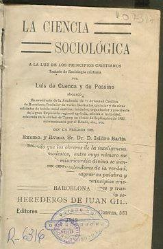 LA CIENCIA SOCIOLÓGICA A LA LUZ DE: CUENCA Y DE