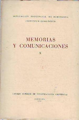 MEMORIAS Y COMUNICACIONES. TOMO X.