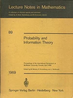 Probability and Information Theory. Proceedings of the: VV.Aa.
