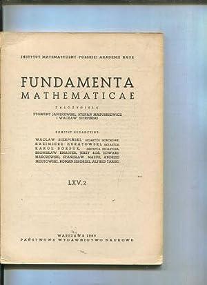FUNDAMENTA MATHEMATICAE LXV 2.: VV.Aa.