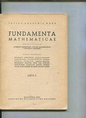 FUNDAMENTA MATHEMATICAE LXIV 3.: VV.AA.