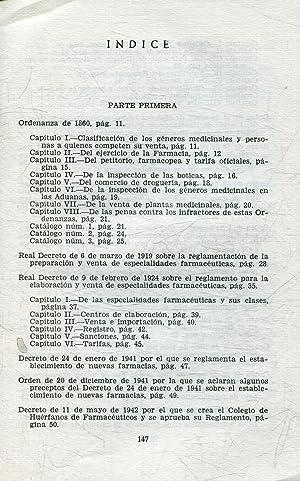 LEGISLACION FARMACEUTICA ESPAÑOLA.: TRULLENQUE PUGA, Jose