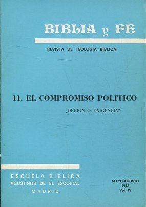BIBLIA Y FE, REVISTA DE TEOLOGIA BIBLICA.: VV.AA.