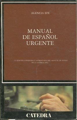 MANUAL DE ESPAÑOL URGENTE.: VV.AA.