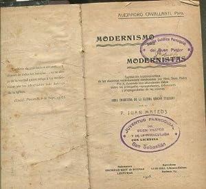 MODERNISMO Y MODERNISTAS. Exposición histórico - crítica: CAVALLANTI Alejandro.