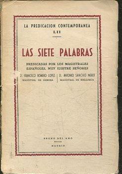 LAS SIETE PALABRAS.: ROMERO LOPEZ/ SANCHO