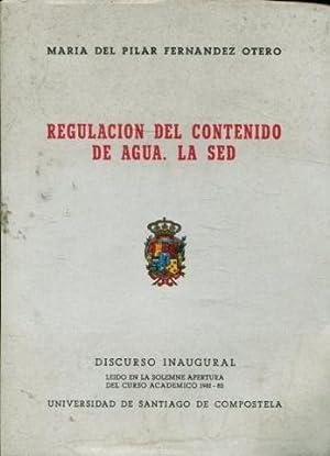 REGULACIÓN DEL CONTENIDO DE AGUA. LA SED.: FERNÁNDEZ OTERO, María