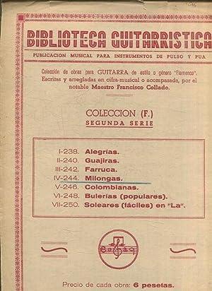 BIBLIOTECA GUITARRISTICA. PUBLICACION MUSICAL PARA INSTRUMENTOS DE: VV.AA.