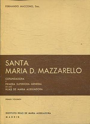 SANTA MARIA D. MAZZARELLO. COFUNDADORA Y PRIMERA: MACCONO, Fernando.
